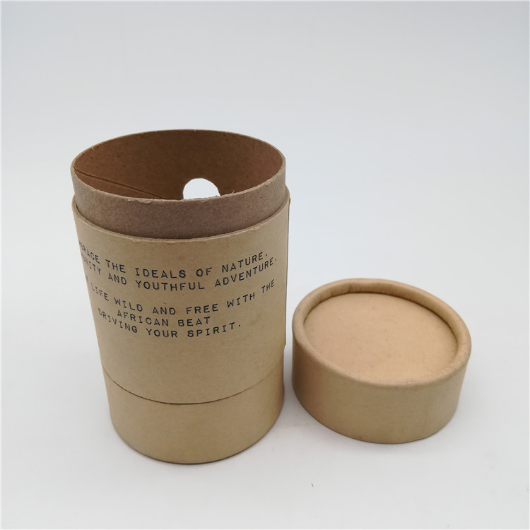 Brown Cylinder Tube Box