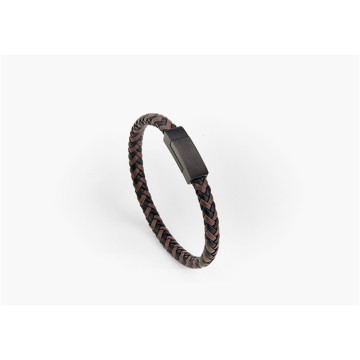 Magnetic Clasp Braided Leather Bracelets