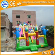 Corrediça inflável comercial para venda, slide inflável gigante para parque de diversões