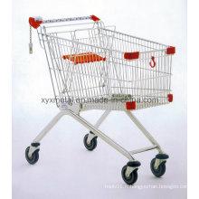 Équipement de supermarché Magasin d'épicerie en métal Shopping Trolley Cart