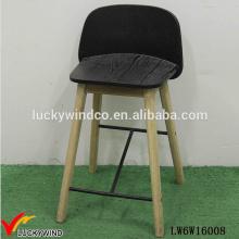 Taburete de bar antiguo hecho a mano silla alta