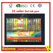 20 Colors Gel Ink Pen in PVC Bag Packing