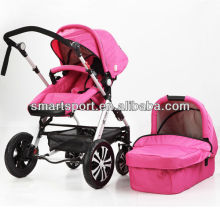 Счастливая детская коляска с дождевой крышкой