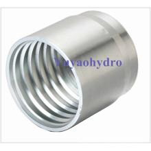 Ferrule à sertir en acier inoxydable pour tuyau SAE 100 R2A