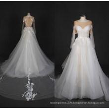 2017 dernière dentelle robe de mariée en tulle robe de mariée de mariée