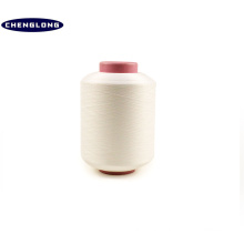 100% spun polyester yarn manufacturer in china 20s spun polyester spandex air covered elastic yarn