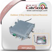 Receptor óptico de salida al aire libre de 2 vías con AGC