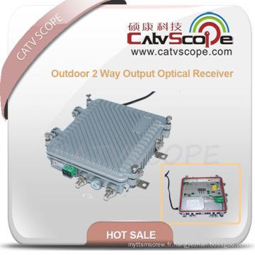 Récepteur optique extérieur de sortie de 2 manières avec AGC