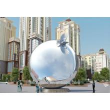 Escultura moderna de la esfera de los artes abstractos del acero inoxidable grande para la decoración del jardín del jardín