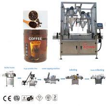 Máquina de embalagem e enchimento de grãos em pó para garrafas PET