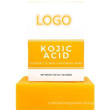 Custom Private Label Skin Lightening Whitening Soap Orange Vitamin C Soap with Kojic Acid