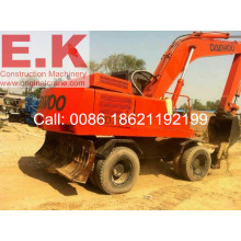 Secondhand Used Korea Daewoo Hydraulic Wheel Excavator (HD200)
