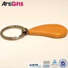Classic style blank wooden key ring