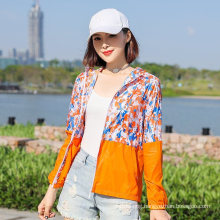 New Stitching Sunscreen Clothing Color Fashion Wild Hooded Sunscreen Shirt