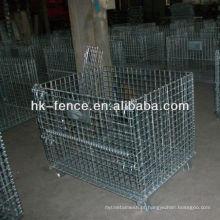 Recipiente galvanizado mergulhado quente do fio do armazenamento 40''x48''x42 ''