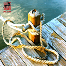 12 strands polyester rope mooring nylon plastic rope