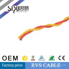 Paire isolées du pvc 300/500v SIPU torsadées câble flexible RVS 300/500v pvc isolé paire torsadée flexible câble RVS