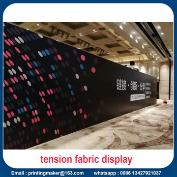 Tension Fabric Exhibition affiche des murs droits