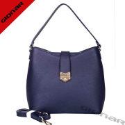 Stylish Nylon Pebble Grain Leather Ladies Handbags Belt With Navy Blue