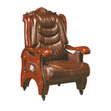 Solid wooden armrest lift executive chair