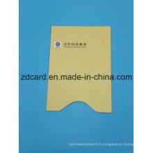 Papier en aluminium de couleur Papier RFID Porte-cartes de crédit Sac à manches