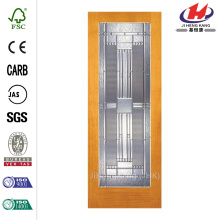 JHK-G01 Bamboo Bedroom Beveled Glass Interior Sliding Doors