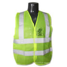 Gilet de sécurité haute visibilité réfléchissant vert fluo CSA Z96 (YKY2823)