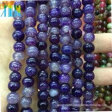 Jewelry purple round agate gemstone beads