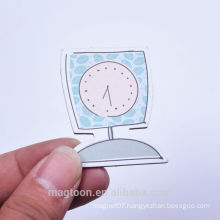 2016 made clock shape kids paper fridge magnets& magnets fridge