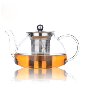 custom heat resistant luxury large borosilicate glass tea set teapot