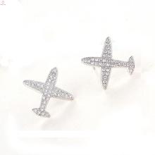 Анти-Аллергия Серьги Самолете Серебряные Украшения, S925 Стерлингового Серебра Серьги Самолете