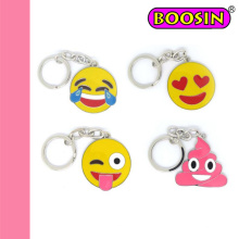 Populäre kundenspezifische Metallharte Email-Emoji Schlüsselkette, Charme-Schlüsselring
