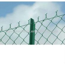 HENGQU Marca de diamante galvanizado / PVC recubierto Cadena de enlace Valla / malla de enlace de cadena