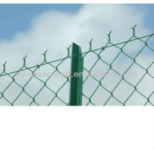 HENGQU Diamond Brand Galvanized / PVC Coated Chain Link Fence / Chain Link Mesh