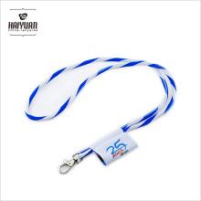 Cordón de cuerda tejida Jacquard redonda de alta calidad