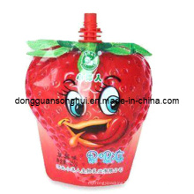 Plastic Juice Spout Bag/Special Shaped Spout Bag for Fruit Juice