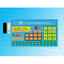 Custom design graphic overlay keypad with cable