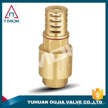 válvula de retención sanitaria de acero inoxidable con cuerpo de latón forjado de unión de filtro con conexión de rosca de alta presión NPT roscada