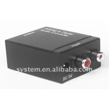 Conversor de áudio analógico para digital (áudio RL para áudio digital ou Toslink)