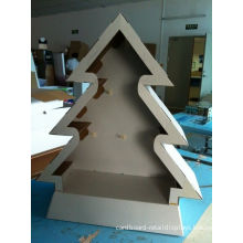 Oem Christmas Tree Shape Point Of Sales Cardboard Counter Displays Boxes For Supermakets