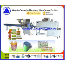 Pudding and Jelly Cup Automatic Shrink Wrapper