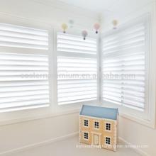 bi-fold design window plantation shutter pvc shutters