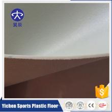 Couverture de plancher de gymnastique commerciale homogène de PVC