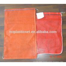 Custom Plastic PP Woven Leno Mesh Net Bags For Firewood , Onion , Garlic