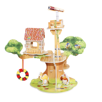 3D Cabin In The Sky Puzzle