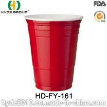 Coupe en plastique rouge de solo, tasse jetable pour la partie