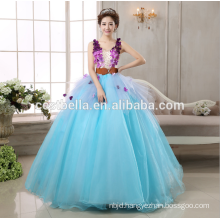 Alibaba recommand bridal wedding dress wedding gown for wholesales puffy ball gown Blue wedding dress