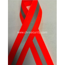 Orange reflective sewing ribbon
