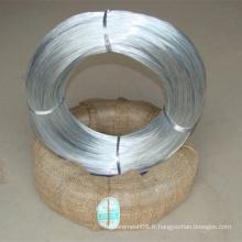 Fil d'acier galvanisé emballé avec le tissu de Hesse