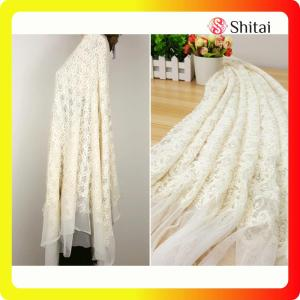 High quality embroidery design swiss voile lace